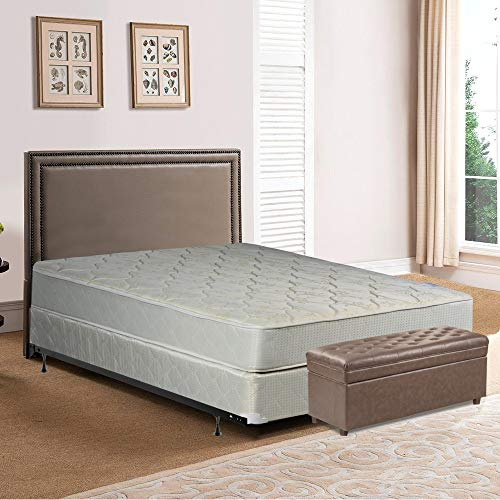 Spring Solution Mattress, 9-Inch Fully Assembled Orthopedic Back Support Full Mattress and Box Spring With Bed Frame,Hollywood Collection