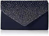 SwankySwans Damen Abby Diamante Envelope Style Bag Tasche, Blau (Navy Blue), Einheitsgröße