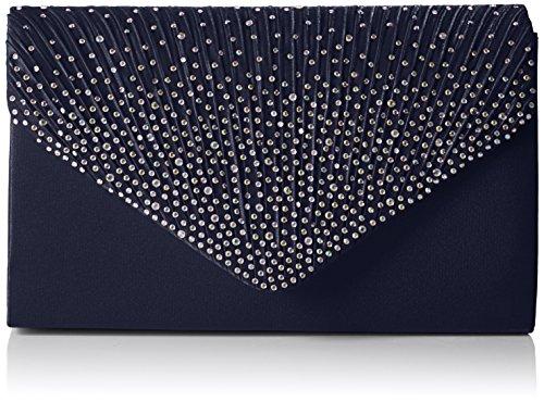 SwankySwans Damen Abby Diamante Envelope Style Bag Tasche, Blau (Marineblau), Einheitsgröße