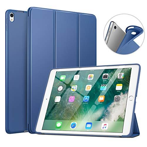 """MoKo New iPad Air (3rd Generation) 10.5"""" 2019 / iPad Pro 10.5 2017 Case, Custodia Cover Sottile Leggero con Protezione Posteriore Traslucida Glassata - Blu Marino"""