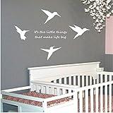 Origami Colibrí Pájaros Con Citas Pegatinas de Pared Home Wall Art Poster Tatuajes de Pared de Vinilo Art Murales Decoración Del Hogar 46 * 71 cm