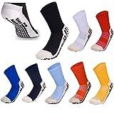 Calcetines de fútbol Antideslizantes de Baja Pantorrilla con Almohadillas de Goma para fútbol, Baloncesto, Caminar, Correr para Adaptarse al tamaño del Reino Unido 5.5 a 11 Azul Navy