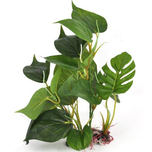 DIGIFLEX Decoración Hojas Verdes para Acuario 30cm Plantas Artificial