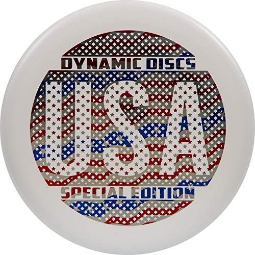 Dynamic Discs Prime Guard Disc Golf Putter   Special USA Stamp Golf Disc   Neutral Flying Frisbee Golf Putter   Deep Profile and Beadless Rim (White)