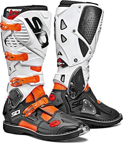 Sidi Unisex-Erwachsene Crossfire 3 Fluor-Black-White 42 Motorradstiefel, Orange-Schwarz-Weiß, Einheitsgröße