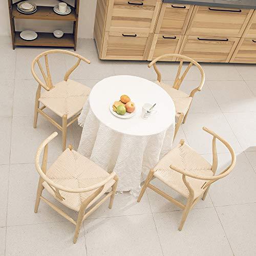 Tomile Wishbone Silla CH24 Silla de hueso de horquilla silla Y de comedor de madera maciza silla ratán sillón
