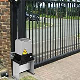 OrangeA Automatic Gate Opener 1400lb with Infrared Security Photocell Sensor with 2 Remote Controls Sliding Gate Opener Move Speed 39ft Per Min