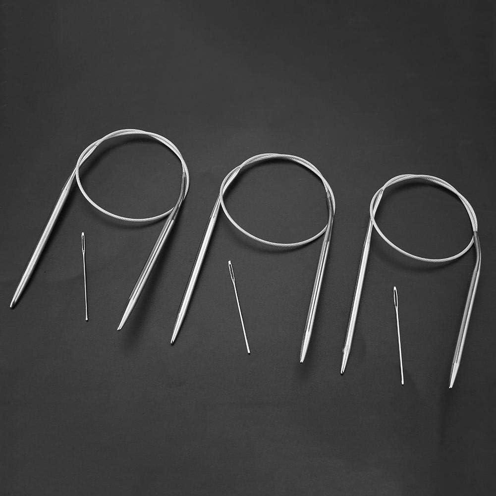 65cm 11pcs 43//65//80cm Multi-size Stainless Steel Circular Knitting Needle Handcraft Sweater Weave Needle Set Knitting Needles Crafts