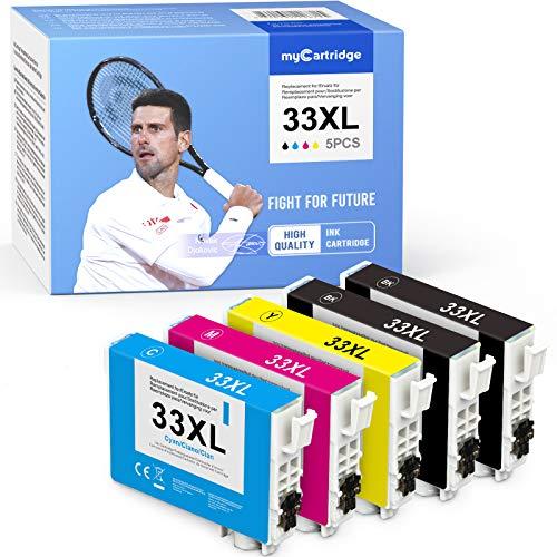MyCartridge kompatibel für Epson 33XL 33 XL Hohe Kapazität Druckerpatronen für Epson Expression Premium XP-540 XP-830 XP-900 XP-645 XP-530 XP-630 XP-640 XP-635 XP-7100 Drucker