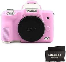 kinokoo Silicone Cover for Canon EOS M50 Camera Ptotective Rubber Case  pink
