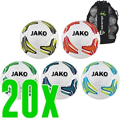 Sarango Sport 20er Ballpaket Jako Lightball Match 2.0, Wähle Größe und Gewicht:Gr. 3 (ca. 290 g)