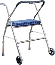 PXY Walking Frame, Rollator 2 Wheel Foldable Compact Rolling Walker with Seat, for Adult, Elderly Handicap,Space Saver
