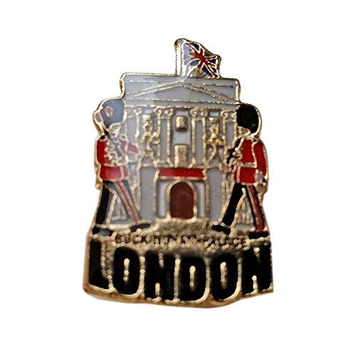 Badge à épingle, Buckingham Palace, souvenir de Londres détaillant le Palais de Buckingham, la résidence de la Reine