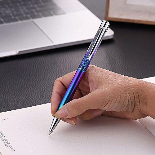 Pen Bling sets Pen Rhinestones Crystal Metal Ballpoint Pens Fine Black Ink Office Supplies(package of 4) Photo #5