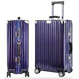 スーツケース 旅行出張 アルミ スーツケース キャリーケースアルミ・マグネシウム合金 軽量 静音 TSAロック搭載 シルバー (XL) 85L スーツケース 大型