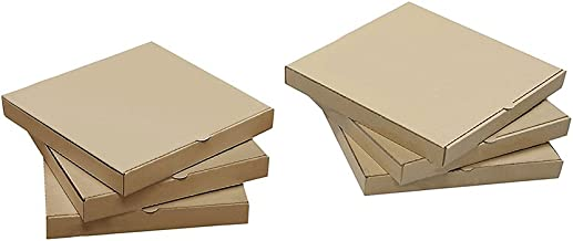 Ecomojiware 12 inches Pizza Boxes Kraft Pizza Paperboard Take Out Containers Packing Boxes 10 Pieces L12.6Lx12.6Wx1.75H Inches