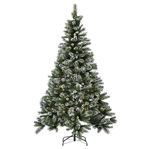 Arg Home 7ft Pre-lit Snow Tipped Christmas Tree