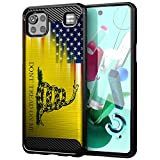 CasesOnDeck Case Compatible with LG K92 5G / LG K92 Case (2020) - Soft Fitted Flexible TPU Cover Shock Protection (Dont Tread On Me)