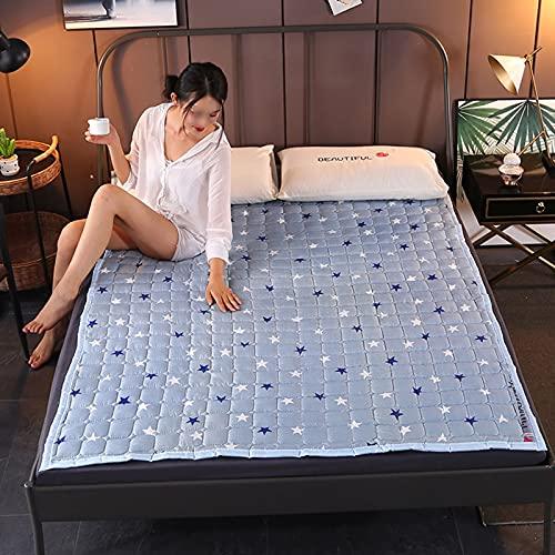 ZQW Colchón Enrollable Plegable para Dormitorio De Estudiantes, Suave Antideslizante Colchón De Futón Japonés Tatami Piso Colchón Dormitorio Hogar Colchoneta para Dormir