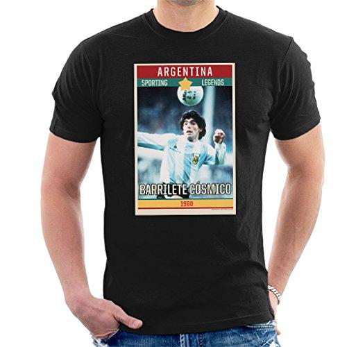 Sporting Legends Poster Argentina Diego Maradona World Cup 1960 Men's T-Shirt