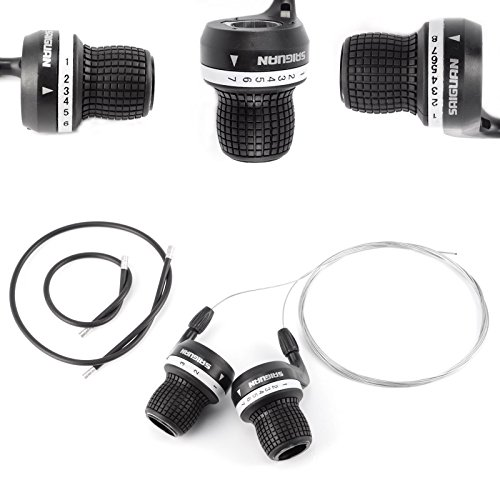 Bicycle Grip Shift Micro Gear Shifters Shimano & SRAM Compatible Bike Cycle 7 Speed