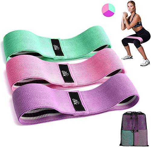 GNEY Resistance Bands 3 Sets, Premium Exercise Loops with Non-Slip Design for Hips & Glutes, 3 Resistance Level Workout Booty Bands for Women and Men, Best for Home Fitness, Yoga, Pilates