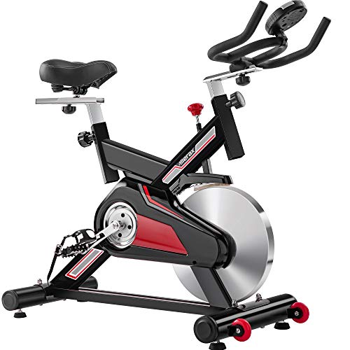 Merax Gym Exercise Bike - Indoor Cycling Bike Stationary 400lbs Weight Capacity Padded Seat Cushion