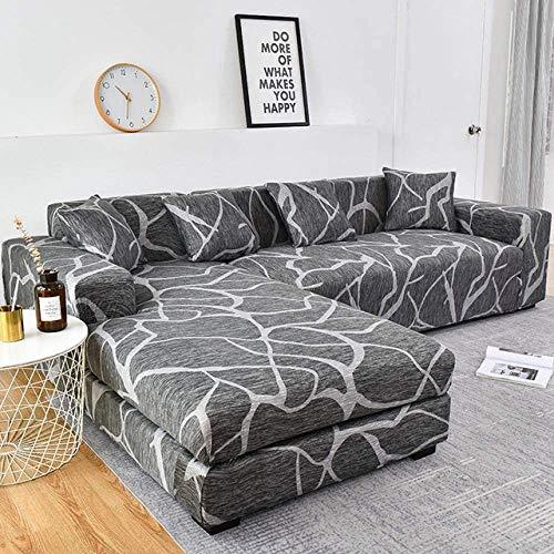 Sofabezug/Couchbezug L Form/Sofaüberzug/Sofahusse/Sofabezug Ecksofa/Sofaüberwürfe/Couchbezug/Sesselbezug/Sofa Überwürfe/Stretch Hussen L Form 1/2/3/4 Sitzer,Color5-4~seater(235~300cm)