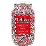 SMARTY BOX Bote Grande Caramelos Toffee con Chocolate Blanco y Leche Condensada, 1,600 Kg Caramelos Blandos Masticables Sin Gluten, Regalo Chuches Fiesta Cumpleaños, Fabricados en España