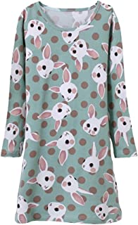 Image of Fun Bunny Rabbit Nightgown for Toddler Girls and Girls - Available in 3 Colors