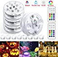 StillCool Submersible LED Lights with Remote,Magnets,Suction Cups,IP68 Waterproof Pool Lights for Inground Pool,16 Colors Changing Battery Operated Underwater Lights for Decor Garden Party Fountain