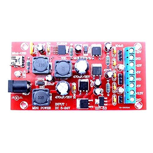 LXGANG Module Board Power Linear Regulator Multiple Output Power Module Kit Original DIY USB Boost Single Turn Dual Wood Shaving Tools Automatic
