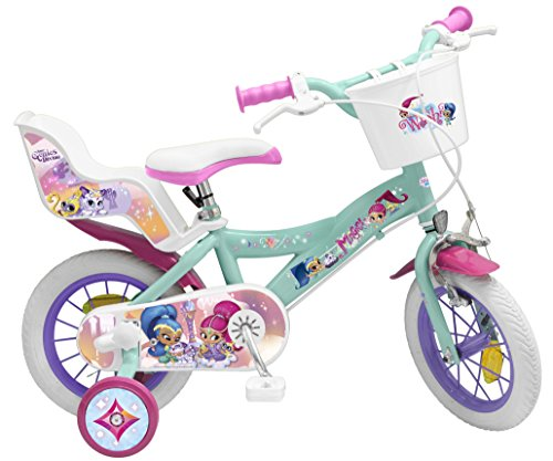Toimsa- Shimmer&Shine Vélo pour Enfant sous Licence Shimmer & Shine 12 Pouce de 3 à 5 Ans, 1263