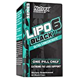 Nutrex Research Lipo-6 Black Hers Ultra Concentrate | Fat Burner Pills for Women | Hair, Skin, & Nails Support | 60Count