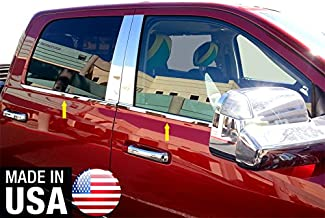 Made in USA! Works with 2009-2018 Dodge Ram Crew/Mega Cab 4PC Window Sill Trim 12 2013 2014 2015 2016