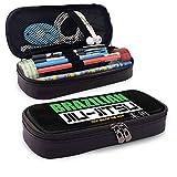 Estuche Escolar de Gran Capacidad, Bolsa de Lápiz Portable Estuche Organizador para Material Papelería con Cremallera Doble Jiu Jitsu Brasileño