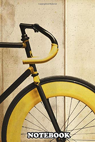 Notebook: Bike With Yellow Details , Journal for Writing, College Ruled Size 6' x 9', 110 Pages