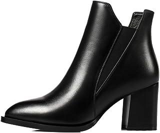 ventas calientes He-yanjing botas para Mujer, otoo otoo otoo e Invierno botas para Mujer botas de Tobillo Gruesas en Punta botas de tacón Alto Martin botas de Cuero de Primera Capa  Envíos y devoluciones gratis.