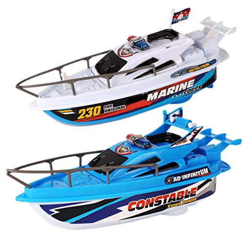 Shumo Barca da Bagno per Bambini Modello Barca Giocattolo Elettrico 2PZ Barca da Acqua Che Gioca in Barca velocità 'Acqua