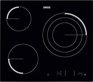 Zanussi Z6123IOK Placa Vitrocerámica, Biselada, 3 zonas de