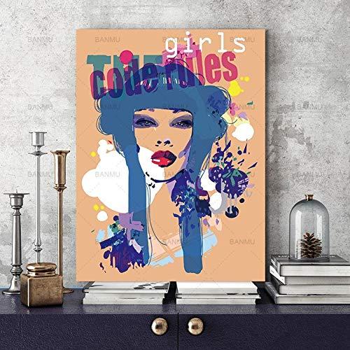 baodanla Kein Rahmen Blume Öl Ng Edelsteine, Portrait Leinwand auf Leinwand Öl Ng, Druck Wohnzimmer, Korridor Restaurant Tapete50x70cm