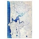artboxONE Poster 30x20 cm Städte Perth Australien Blue