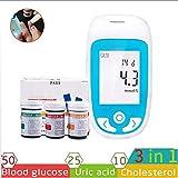 LLQ Monitor per glicemia, 3 in 1 Dispositivo Multifunzionale per Il monitoraggio del...