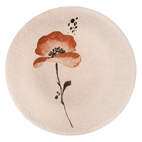 LOEVENICH Damen Statement Baskenmütze mit trendigem Print Mohnblume