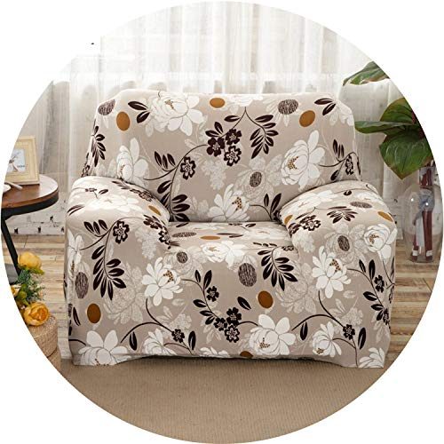 Little Happiness- Elastic Sofa Cover Printed Flowers Slipcover Tight Wrap All-Inclusive Corner Sofa Cover Stretch Furniture Covers 1/2/3/4 Seater,Color 6,4seater 235-300cm