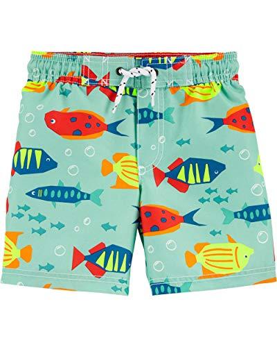 Carte's - Bañador para niños pequeños y bebés (1 unidad), Fish Swim Trunks, 5