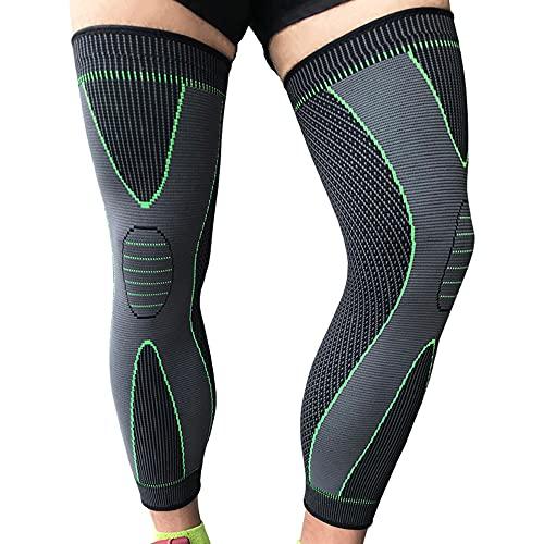 2 Pack Long Knee Brace, Full Leg Compression Sleeve for Men Women, Ultra Long Knee Sleeves for Running, Basketball, Varicose Veins(XXX-Large)