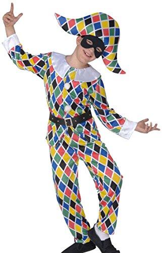 Widmann - CS855716/158 - Costume enfant arlequin taille 158 cm 11/13 ans