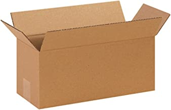 """Aviditi 1466 Long Corrugated Cardboard Box 14"""" L x 6"""" W x 6"""" H, Kraft, for Shipping, Packing and Moving (Pack of 25)"""