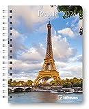 Paris - Buchkalender Deluxe 2021 - Kalenderbuch A5 - Taschenkalender - teNeues-Verlag - Taschenplaner mit Spiralbindung - 17 cm x 22 cm - Kunstkalender